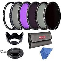 Beschoi 62mm Filter, Slim 62mm UV Filter + Polarizing Filter Slim + Neutral Density Filter Set + Slim FLD Lens filter Kit for Canon Nikon Digital Camera lens