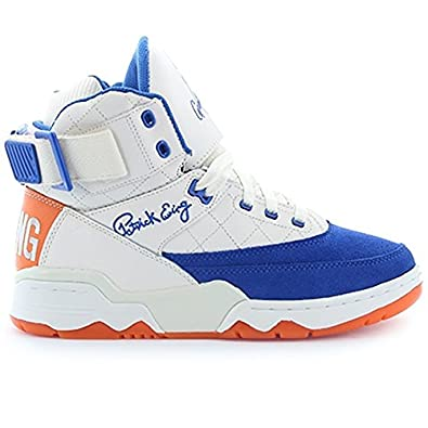 the best attitude 39885 741bf Amazon.com   PATRICK EWING Athletics 33 HI Cream Royal Orange 50 Greatest  Players 1EW90187-738   Shoes