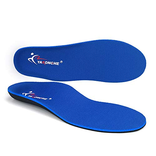 (Plantar Fasciitis Inserts, Arch Support Orthotic Inserts, Comfortable and Best Shock Absorption Cushioning Sport Insoles, Relieve Flat Feet, High Arch, Foot Pain, No Matter Women or Men)