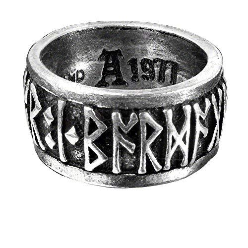 Alchemy Halloween Party Fashion Jewelry Metal Wear Runeband Ring Size Q/8.5]()