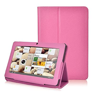 """NSSTAR Folio Stand Faux Leather Case Cover Flip Protection Guard Case Cover for Zeepad, Chromo, Alldaymall, Matricom, Tagital 7 Inch Android Tablet Q88,Alldaymall A88X 7'',NeuTab N7 Pro,Chromo Inc?7"""" from ikasus"""