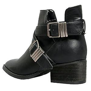 Breckelle's Womens Bronco-11 Bootie Boots, Black, 8.5