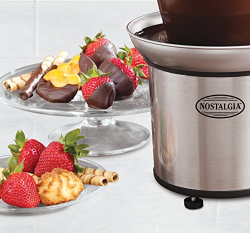082677139863 - Nostalgia CFF986 4-Tier 2-Pound Capacity Stainless Steel Chocolate Fondue Fountain carousel main 1