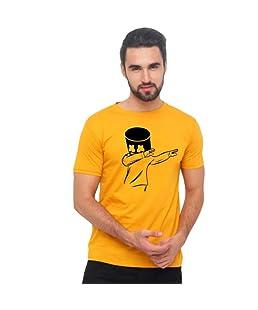 Men's Regular Fit T-Shirt (JRKMSH002_Mustard_Medium)