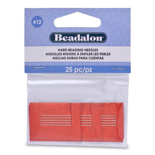 (Beadalon Hard Beading Needles #12 25 Pieces)