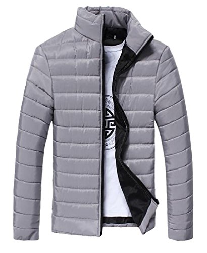 Zipper Coat Closure Down AngelSpace Delicate Solid Vest Classic Mens Jacket Silver CwngqHWB7