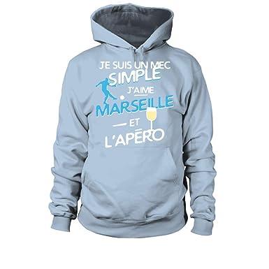 L Suis Teezily Un Marseille Je Simple Sweat À Capuche Mec Et J'aime CxBoedEQrW