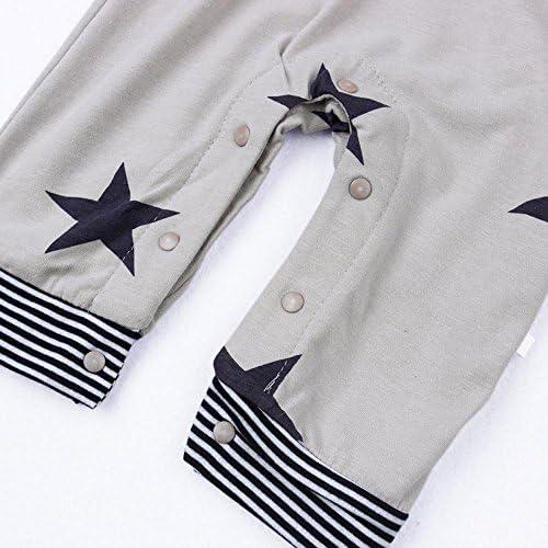JoJody 3PCs V/êtements B/éb/é Ensemble /à Manches Longues B/éb/é Gar/çon Fille T-Shirt /à Rayures Casquette Salopettes