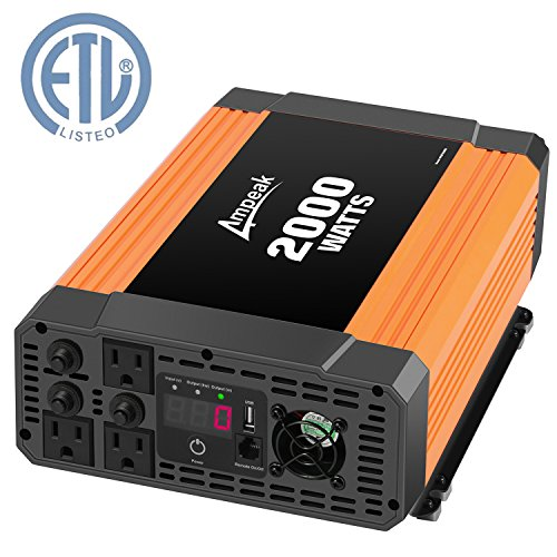 Fan Motor Insulation - Ampeak 2000W Power Inverter 12V DC to 110V AC Car Converter 3 AC Outlets 2.1A USB Inverter