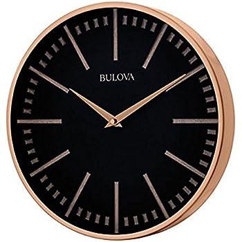 Amazon Com Bulova C4646 Silhouette Clock Brushed