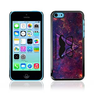 CaseCaptain Carcasa Funda Case - Apple iPhone 5C / Awesome Hipster Moustache Triangle /