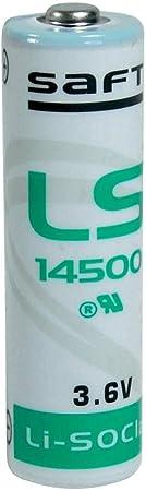 Saft Ls14500 36 Volt Aa 2600 Mah Lithium Battery By Elektronik