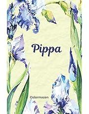 Pippa: Personalised Blue Iris Notebook (Small)