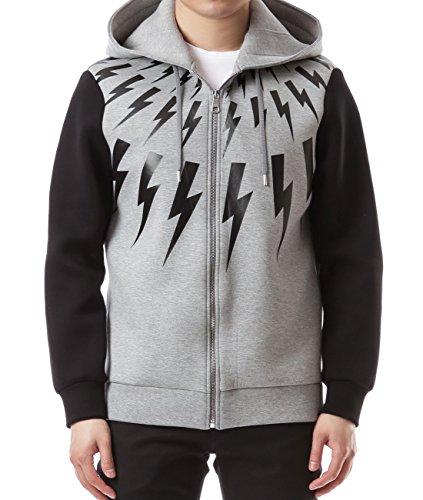 wiberlux-neil-barrett-mens-thunder-print-two-tone-zip-up-hoodie-m-gray-black