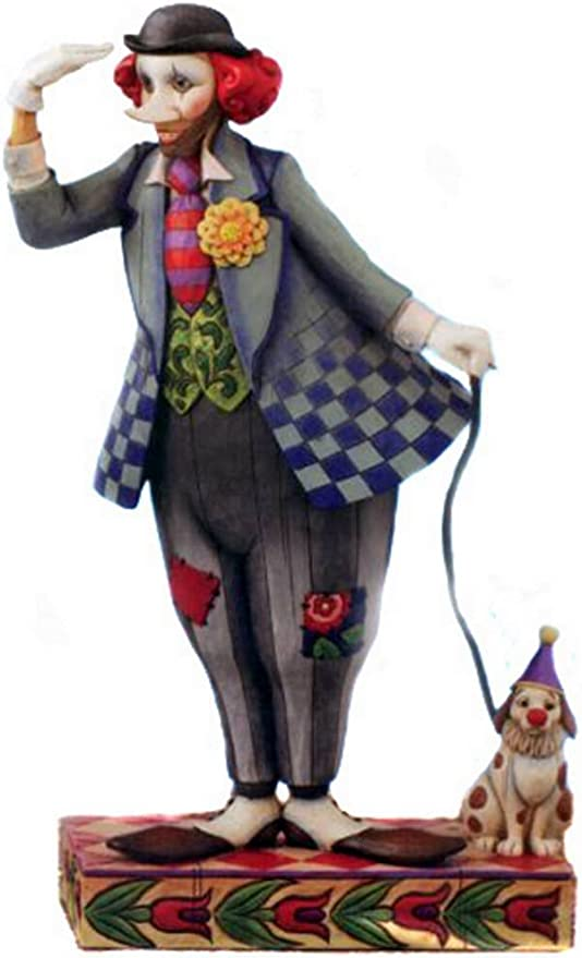 STOBOK Table Clown Toy Tinplate Wind Up Figure Toy Drumming Clown Doll Decorative Figurine Toy Gift for Kids Children Home Office