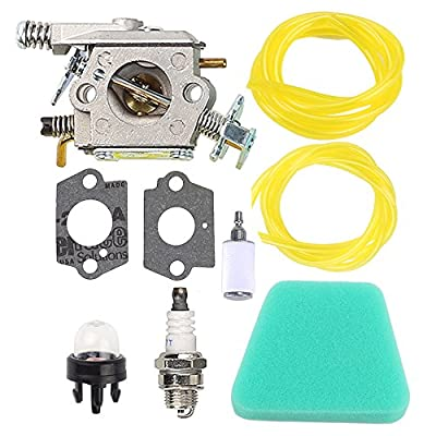 Buckbock C1U-W8 Carburetor with Gaskets for Poulan 1950 2050 2150 2250 2375 2550 Craftsman Chainsaw Replace ZAMA C1U-W14 WT-89 WT-600 WT-624 WT-625 WT-891 Carb 545081885 530069703