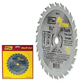 IVY Classic 36175 Ripcross 5-1/2-Inch 24 Tooth Thin Kerf Carbide Circular Saw Blade with 5/8-inch, 1/2-inch Arbor, 1/Card