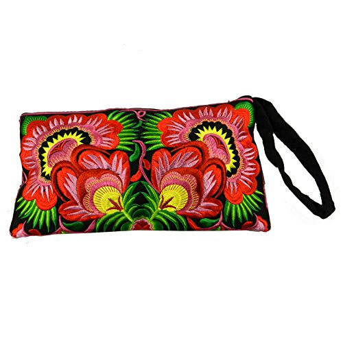 BenThai Products, Borsetta da polso donna Rosso Multicolor S