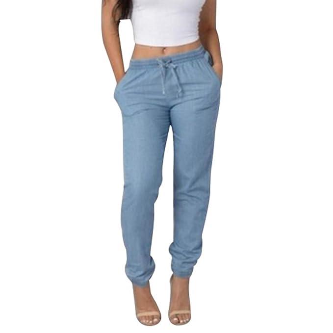 6e1769f4b0e2 Colore Solido Jeans A Vita Media