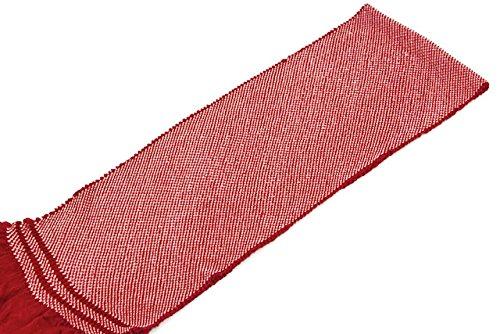 帯揚げ 茜色 レッド 正絹 四つ巻 無地 総絞り 鹿の子 帯あげ おびあげ 成人式向き 振袖向き ふりそで