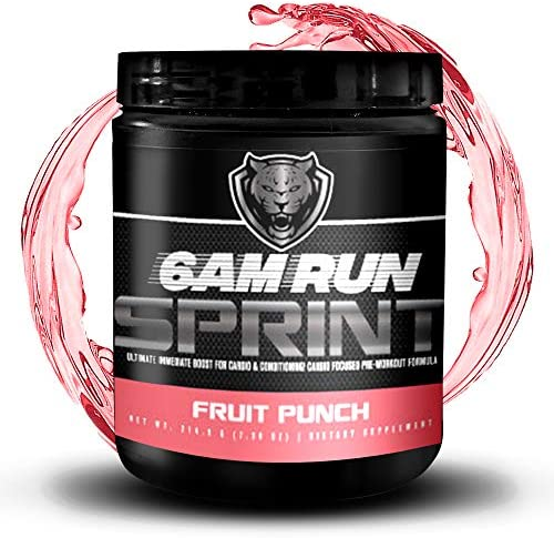 6AM Run – Pre Workout Supplement Pre Sprint Run – Amino Energy Fruit Punch – Pre Workout For Runners – Pre Workout Runners – Runners Supplements – Best Pre Workout Supplement For Running – 30 Scoops