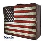 Vincent Nostalgic Master Case Travel Stylist Barber Case, American Flag