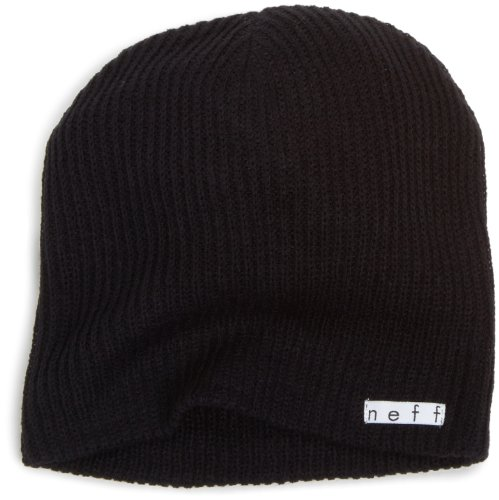 Neff Unisex Daily Beanie  Warm  Slouchy  Soft Headwear  Black  One Size