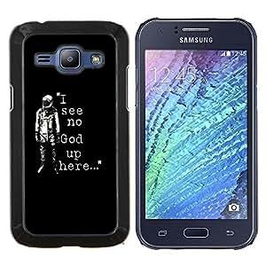 TECHCASE---Cubierta de la caja de protección para la piel dura ** Samsung Galaxy J1 J100 ** --No veo a Dios Astronauta