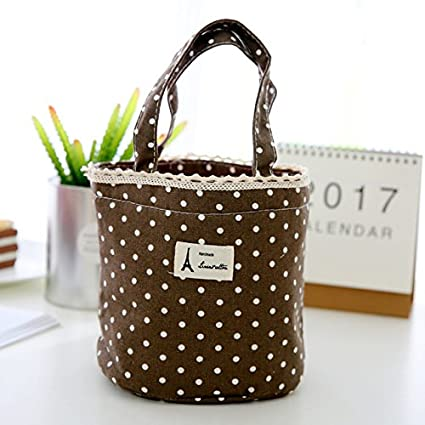 c8e8ea96e Pinkdose® Coffee: Bolsa Termica Lunch Bag Thermal Insulated Dot Eiffel  Tower Printing Lunch Box Cooler Bag Tote Bento Pouch Lunch Containe:  Amazon.in: Home ...