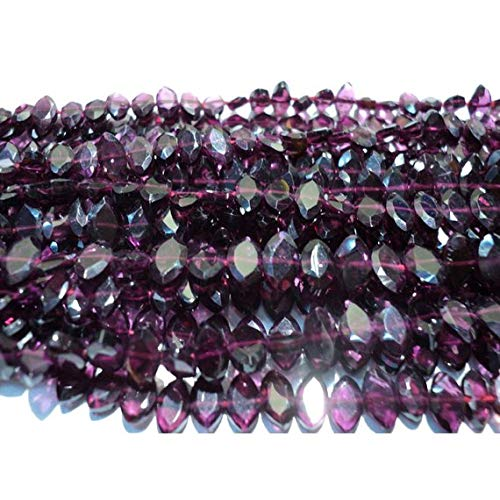 Gems World Beautiful Jewelry Garnet Marquise Shaped Beads - 6.5mm Each - 5 Strands- 14 Inches Each Code-COM-5812