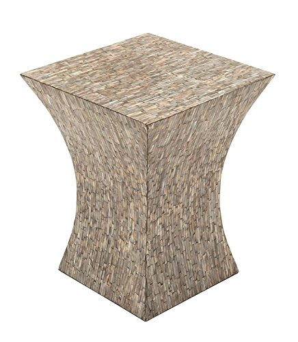 Deco 79 49094 Wood Inlay Accent Table
