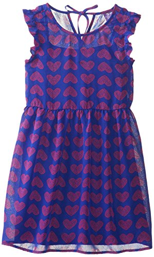 Royal Blue and Pink Heart Dress for Girls