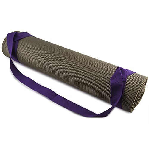 Fit Spirit Adjustable Cotton Yoga Mat Carrying Strap – Purple