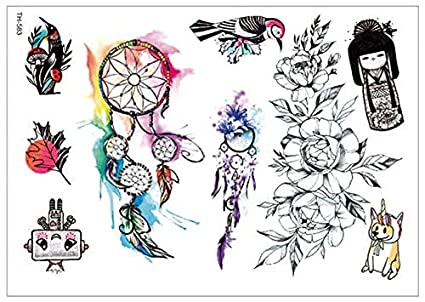 TATTOO TATTOO TATTOO TH583 - Colgante de tatuaje, diseño de flores ...