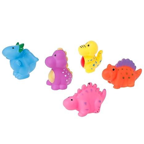Junlinto, 5 UNIDS Animales de Dinosaurios Natación Juguetes de Agua Flotador Bebé Juguetes de Baño