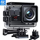 Victure AC800 4K 20MP Action Camera, Ultra HD with WiFi EIS 40M Waterproof Underwater Camcorder, Wide-Angle Lens Time-Lapse Sports Camera, 2 Batteries and Mounting Accessories Kit - Upgraded
