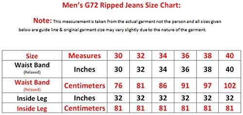 Da Elasticizzato Skinny In Uomo G Wash Jeans Dark 72 S Modello Cotone Strappato Taglia XwfxEz1qz
