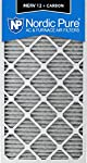"""Nordic Pure 20x30x1PM12C-3 Pleated MERV 12 Plus Carbon AC Furnace Filters (3 Pack), 20 x 30 x 1"""""""