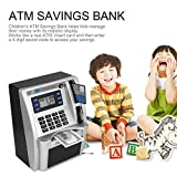 JullyCAnnice ATM Savings Bank Toys Kids Talking ATM Savings Bank Insert Bills Perfect for Kids Gift Dollar Currency Detector