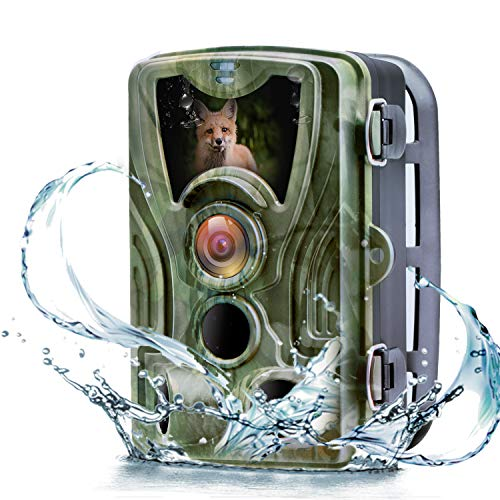 MTFY Upgraded Trail Game Camera 16MP 1080P Wildlife Deer Cam with 120° Detecting Range 0.3s Trigger Time Motion Activated IP65 Waterproof Night Vision for Outdoor and Home Security