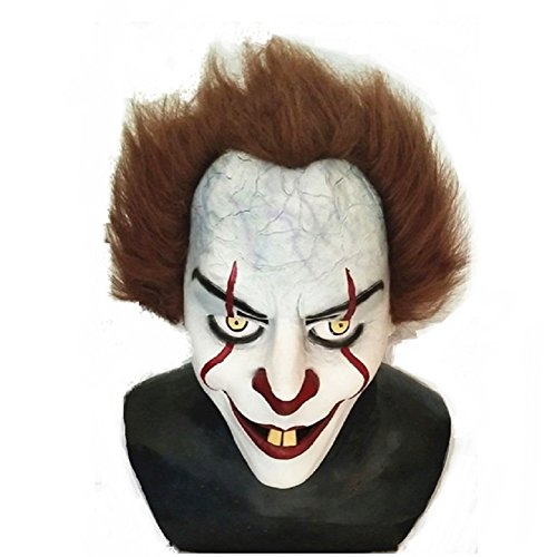 BEST realistic Pennywise IT Movie 2017 Mask for Halloween One Size Stephen king (Scary Movie Halloween Mask)