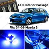 mazda 3 blue interior lights - Classy Autos Blue LED Lights Interior Package Deal Mazda 3 MS3 (6 Pieces)