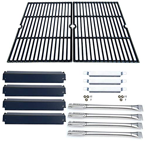 Direct store Parts Kit DG166 Replacement Charbroil Commercial Gas Grill 463268606,463268007 Repair Kit (SS Burner + SS carry-over tubes + Porcelain Steel Heat Plate + Porcelain Cast Iron Cooking Grid) ()