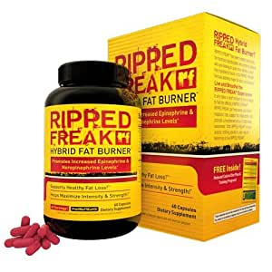PharmaFreak Ripped Freak - #1 Top Rated FAT BURNER - 60 Capsules - Diet - Weight Loss - Burn Fat - Lose Weight and Look Great! - Top Rated Fat Burner by Bodybuilding