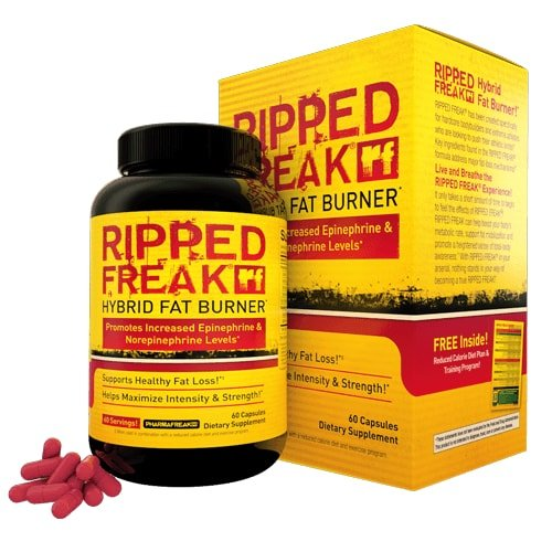 PharmaFreak Ripped Freak - #1 Top Rated Fat Burner - 60 Capsules - Diet - Weight Loss - Burn Fat - Lose Weight and Look Great! - Top Rated Fat Burner by Bodybuilding (Best Fat Burners To Get Ripped)