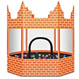 Trampoline for Kids with Enclosure-Suitable for Indoor or Outdoor Use-Unique Design Castle Style