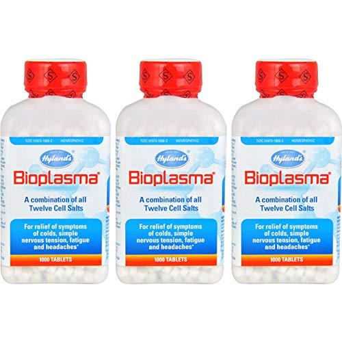 (Hylands Bioplasma Cell Salt Tablet - 1000 per pack - 3 packs per case. )