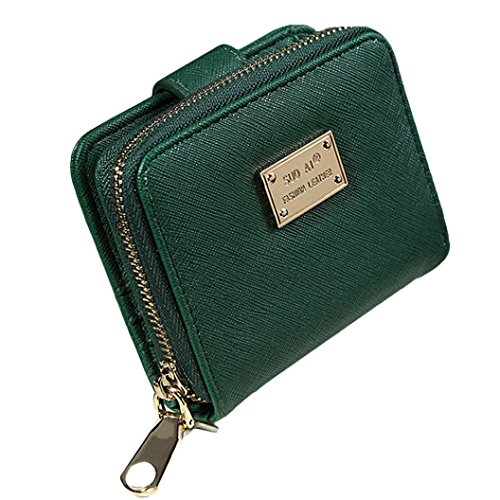 Outtop Lady Women Purse Clutch Wallet Casual Short Small Bag Card Holder (Green)