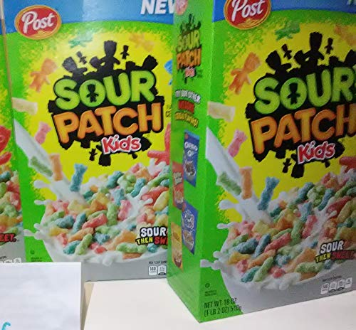 2 Box - Sour Patch Kids Breakfast Cereal Candy 36 oz