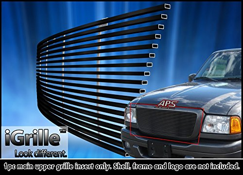 Black stainless steel egrille billet grille grill for 04 05 ford ranger all model insert get - All stainless steel grill ...
